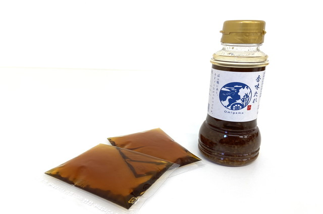 近江鴨専用の鍋つゆと香味たれ